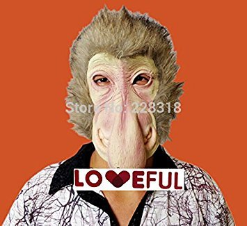 2015 - New Quality Cute Funny baboon Latex Clown Mask For Halloween Costume Party (Baboon Latex Mask)