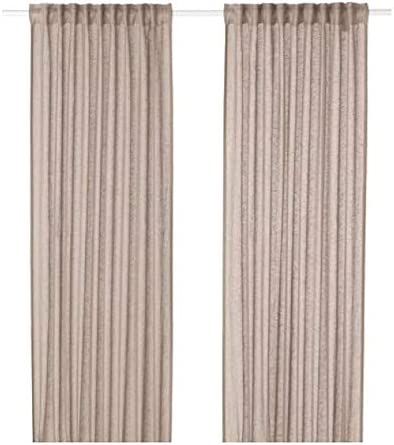 Ikea Lejongap 404.126.31 - Cortinas (2 Unidades), Color Beige ...