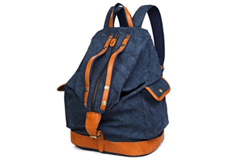 College Casual Canvas Laptop Vintage Yzml Green Unisex Camping School Backpacks Bag Daypack Blue Trip Hiking Backpack Bookbag Ourdoor Backpack Deep For xvwXqI