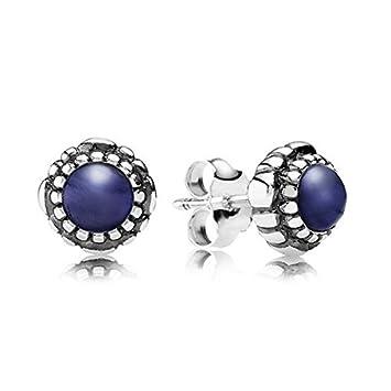d405065af Pandora 290543LP Birthday Blooms Earrings September Lapis Lazuli:  Amazon.co.uk: Sports & Outdoors