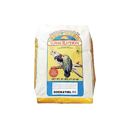 Sun Seed Company Bss20006 Economical Mix Cockatiel Food, 25-Pound by Sun Seed