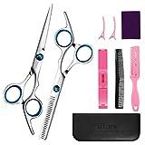 Best Hair Cutting Scissors - FUTONE Hair Cutting Scissors Shears Set, Hairdressing Scissors Review
