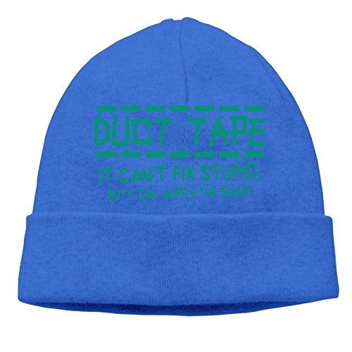 HG&&GH Duct Tape Can't Fix Stupid muffle Sound Winter Ski Unisex Skull Cap Daily Slouchy Beanie Cap For (Cotton Midweight Cap)