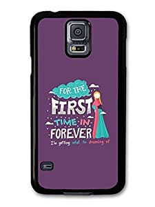 AMAF ? Accessories Frozen For The First Time in Forever Disney Animation Lyrics case for Samsung Galaxy S5