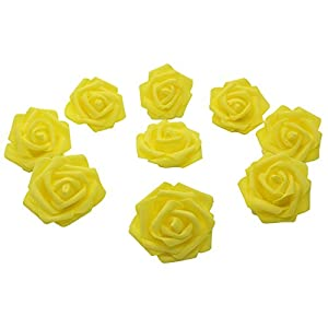 7cm DIY Real Touch 3D Artificial Floral Foam Roses Head Without Stem for Wedding Party Home Decoration-50pcs 80