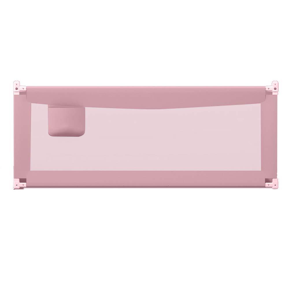 LHA ベッドガードフェンス ベビーチャイルドベッドガードレールベビーベッドサイドフェンスアンチフォールズ1.5-2 Mベッドのレールバッフルユニバーサルベッド (色 : Pink, サイズ さいず : L-200cm) L-200cm Pink B07L1F8QQ6
