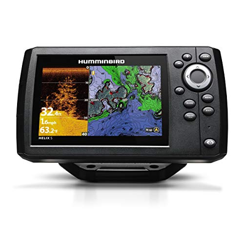 Humminbird 410220-1NAV Humminbird 410220-1NAV HELIX 5 CHIRP DI GPS G2 NAV Plus Fishfinder with Down-Imaging and GPS