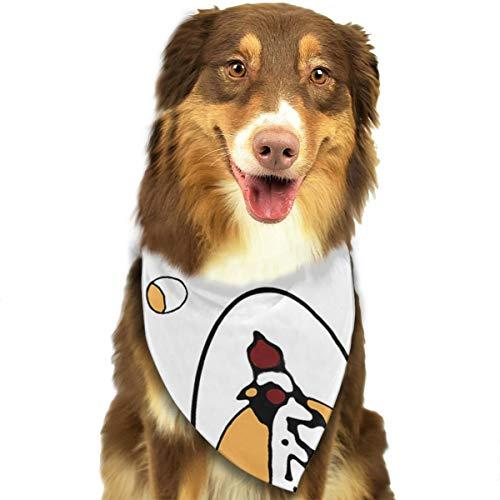 FRTSFLEE Dog Bandana Roseanne's Chicken Stylish Art Scarves