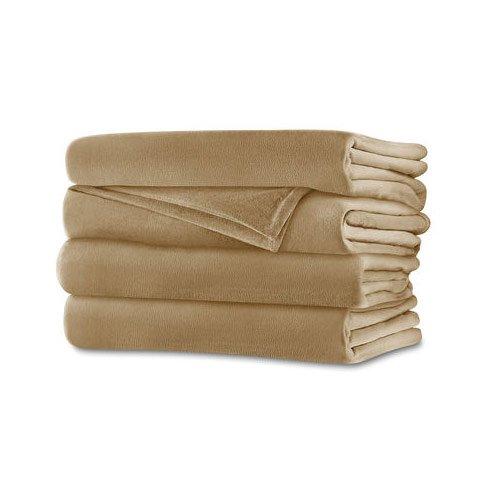Sunbeam RoyalMink Electric Heated Blanket Twin Size Sand Tan - Sunbeam Tan Blanket