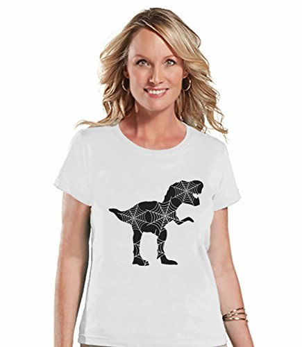 7 ate 9 Apparel Womens Dinosaur Halloween T-Shirt Large -
