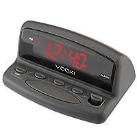 VOOKI LED Digital Alarm Clock - Outlet Powered, No Frills Simple Operation, Alarm, Snooze, 0.6