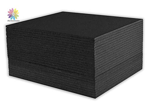 (Mat Board Center, Pack of 25 Foam Core Backing Boards 3/16 (8x10, Black))