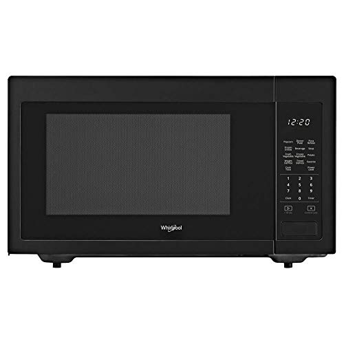 Whirlpool 1.6 cu. ft. Countertop Microwave in Black with 1,200-Watt Cooking Power