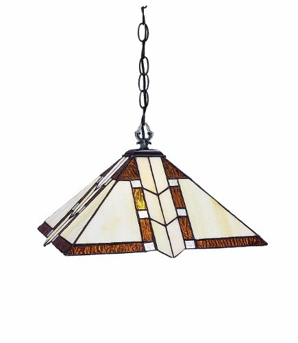 Z-lite Prairie Garden (Z-Lite Z14-608-01 Prairie Garden One Light Pendant, Metal Frame, Antique Brass Finish and Multi Color Tiffany Shade of Glass)