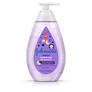 Johnson's Baby Tear Free Bedtime Baby Moisture Wash with Soothing Natural Calm Aromas, 13.6 Fluid Ounce