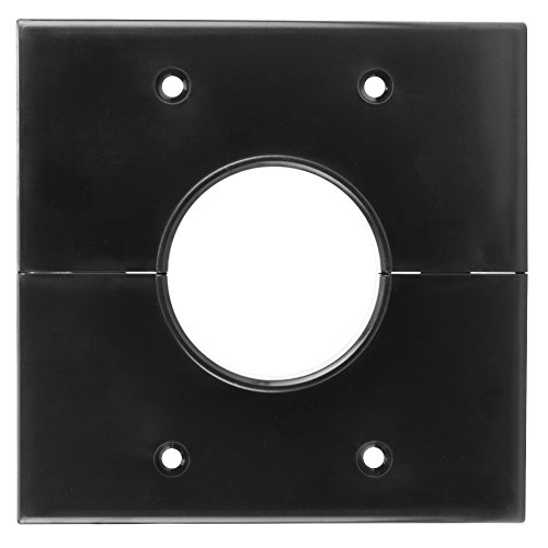 Series Wall Plate - Skywalker Signature Series Split Dual Gang Wall Plate with 1.75 inch hole, black