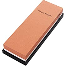 Double-Sided Knife Sharpening Stone Multi-Colored - 600/1000 Grit by Utopia Kitchen