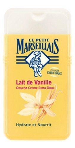 French Shower Gel - Le Petit Marseillais 1 Bottle of Body Wash Your Choice, French Shower Cream 6 Varieties 250ml (8.4oz) (Lait de Vanille (Vanilla Milk))