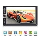 Qiilu 7inch HD Touch Screen Bluetooth Car MP5 Player Stereo Video FM Radio GPS USB AUX Remote Control
