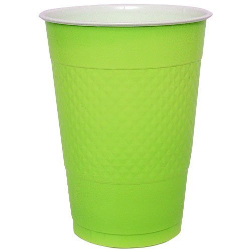 Hanna K. Signature Collection 50 Count Plastic Cup, 18-Ounce, Lime (Lime Cup)