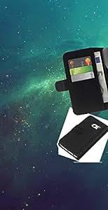 Protector de cuero de la PU de la cubierta del estilo de la carpeta del tirón BY RAYDREAMMM - Samsung Galaxy S6 EDGE - Galaxy verde psicodélico