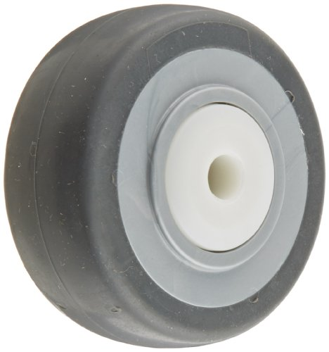 Shepherd-009913-RegentMonarch-3-12-Diameter-x-1-14-Width-MonoTech-Flat-Tread-Wheel-with-Delrin-Bearing-250-lbs-Capacity-Gray