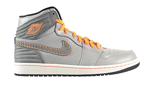Air Jordan 1 Retro '93 Men's Shoes Wolf Grey/Clay Grey-Bright Citrus-Deep Red 580514-045 (12 D(M) US)