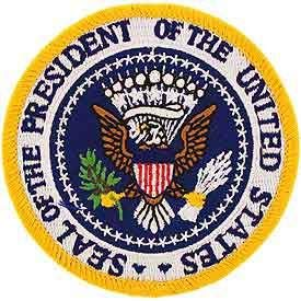 """USA Seal, President - Embroidered Patches, Premium Quality Iron On Patch - 3"""""""