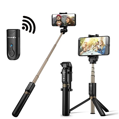 Bluetooth Selfie Stick Tripod with Remote for iphone 6 6s 7 plus 8 Android Samsung Note 8 Galaxy S7...