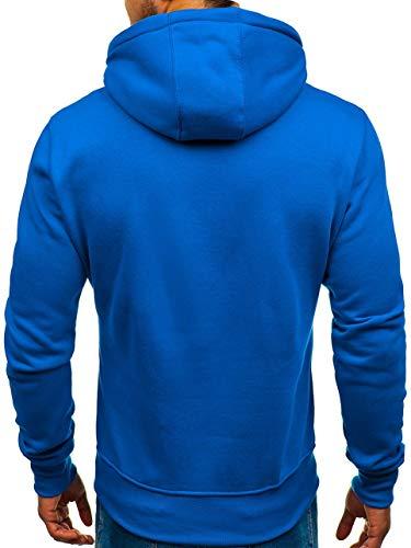 Avec Sportif Sweatshirt Hiver Capuche Manches 2009 Poche Bolf Bleu Homme Kangourou 1a1 Basique Longues pUvqpExw