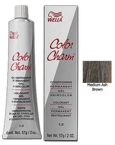Liquid Charm Color (Wella Color Charm Gel, 237/4A Medium Ash Brown, 2 Ounce)