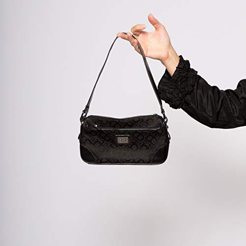 90s Black Monogrammed Canva Shoulder Bag Small Shoulder Bag Pochette from ROCCOBAROCCO