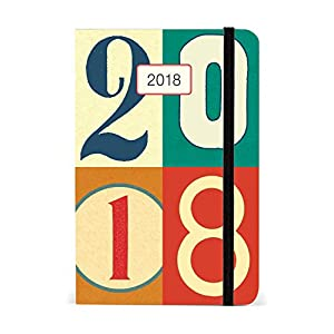 Cavallini Papers & Co., Inc. Vintage Numbers Weekly Planner Cavallini 2018