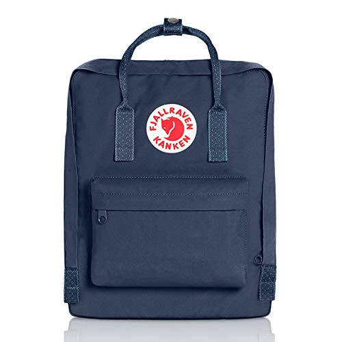Fjallraven Men's Kanken Backpack, Royal Blue/Pinstripe, One Size by Fjallraven (Image #1)