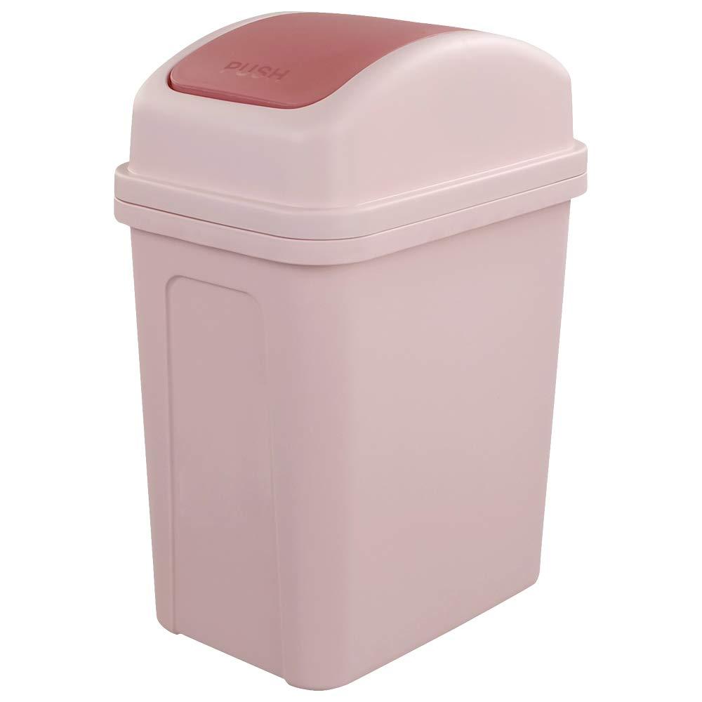 Hokky Bedroom Small Trash Bin with Swing Lid, 7 Liter (Grey) Hokkyer