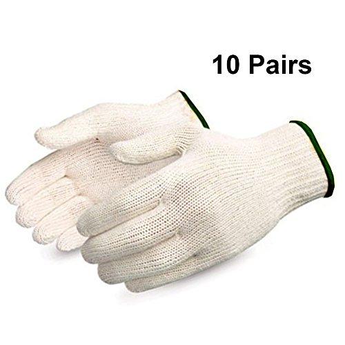 Morton Home String Knit Gloves Natural White (Black)