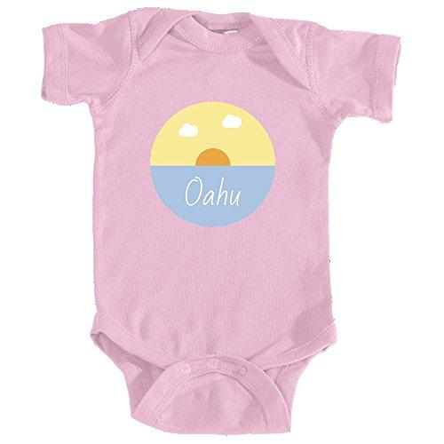 Price comparison product image Oahu Ocean Sunset - Hawaii Infant Onesie / Bodysuit (6MOS,  Pink)