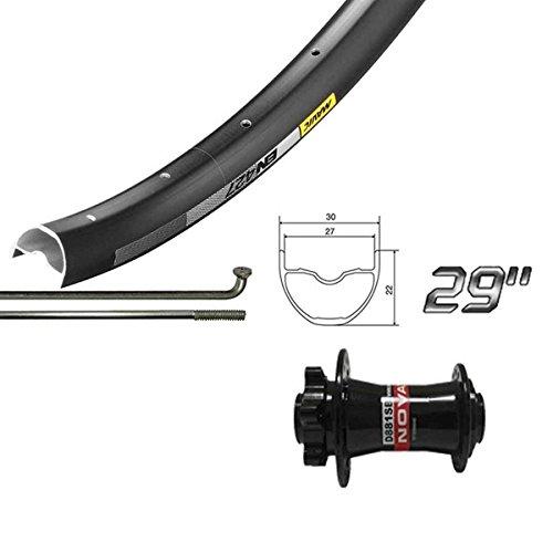 Wheel Shop Mavic EN427 Disc/ DT Champion Black Wheel Front 29'' 32 spokes Novatec D881 15/20x110mm TA Disc 29' Wheels