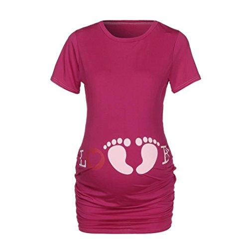 ' Short infermiera manica incinta Amlaiworld s Women maternit S6np5aPq