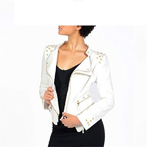 Coated Biker Style Jacket - substitution Luxury Vintage Girls Slim Clothes Womens Denim Jacket Bomber Chaqueta Mujer WOM