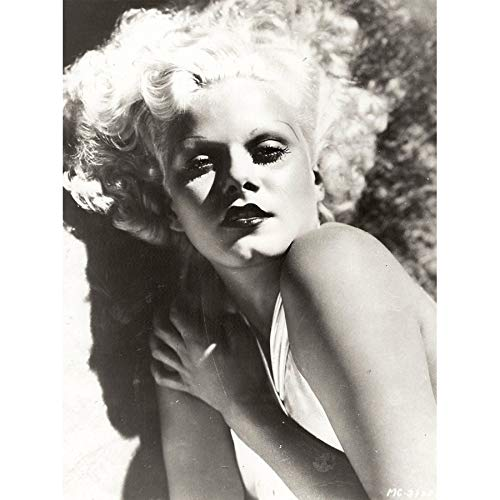 - Hurrell Portrait Movie Actress Jean Harlow Promo Photo Art Print Canvas Premium Wall Decor Poster Mural