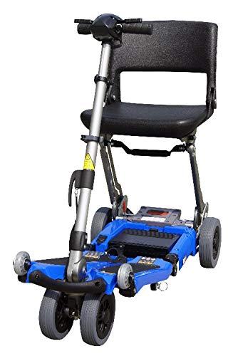 FreeRider USA Luggie Standard -Folding Mobility Scooter with Lithium-ion Battery for Adults and Seniors, Portable, Lightweight, Airline Approved, Blue