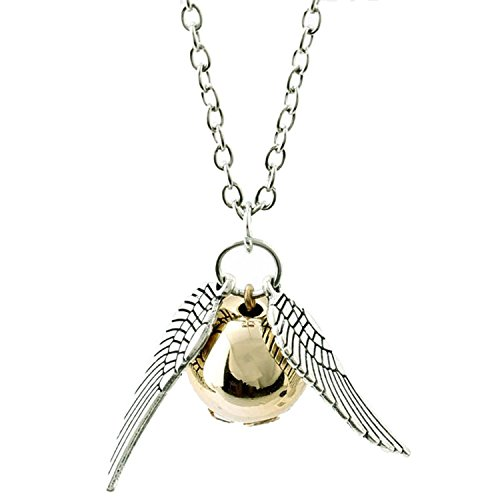Accessorisingg Harry Potter Inspired Golden Snitch with Silver Wings Pendant [PD032] (Harry Potters Best Friend)