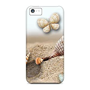 Hot Tpye Sea Shells By The Sea Case Cover For Iphone 5c