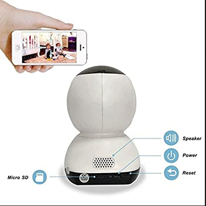 Full HD WiFi Cámara IP, detector de movimientos y sonidos, Baby Monitor video vigilancia