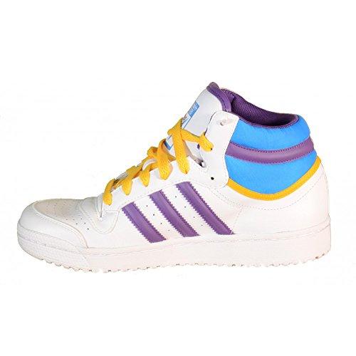 Adidas - Adidas Top Ten Hi K Zapatos Deportivos Mujer Blanco Multicolor Alto Cuero G63353 Blanco