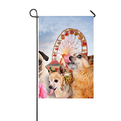 Custom Pink Cotton Candy Amusement Park Three Funny Dogs Dur