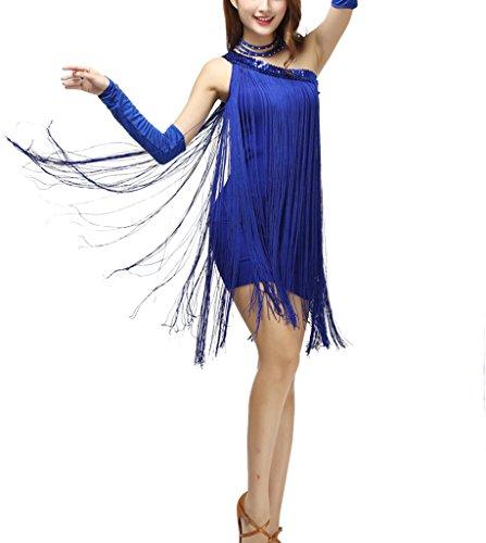 blue 1920s style dresses - 7