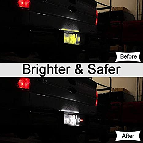 Error Free 3W 6000K Diamond White Full 9 LED Rear Number Plate Lamp Assembly For Ford F150 F250 F350 F450 F550 Ranger Pickup Truck Explorer Bronco Excursion 2-Pieces License Plate Light for F150