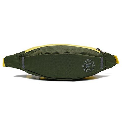 e-jiaen bolsa de cintura impermeable resistente al agua reflectante rayas riñonera/Hip pack riñonera bolsa para hombre Mujer Deportes Viaje Senderismo/dinero iphone 6/76s/7S Plus Samsung S5S6, azul verde